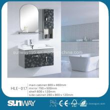 Morden Design Wall Hung Meubles en acier inoxydable avec miroir
