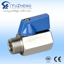 Stainless Steel Female/Male Thread Mini Ball Valve