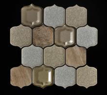 Parede de porcelana de fundo bege mosaico de pavimentação