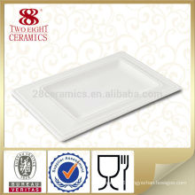 Wholesale cheap restaurant dinnerware hotel used square dinner plates, restaurant supplies