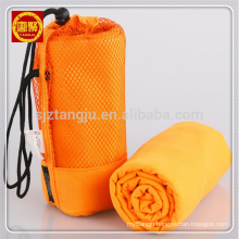 Quick dry microfiber suede travel sports gym towel with mesh bag Quick dry microfiber suede travel sports gym towel with mesh bag