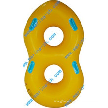 Personalized colorful inflatable gigantic donut pool float for family in USA