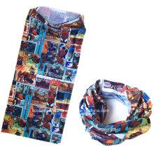 Soem produzieren Großhandels kundengebundenes Firmenzeichen fördernder Polyester gedruckter Multifunktionsstirnband Schal