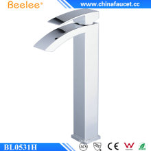 Beelee Bl0531h Single Handle Brass Tall Waterfall Basin Mixer