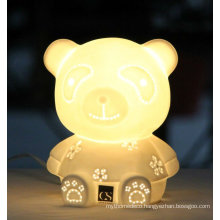 Animal Charming Bear Decorative Ceramic Fancy Table Lamp