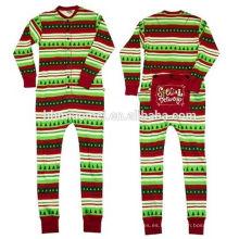 Pijamas rayados de la Navidad del pijamas rayados del bebé de la venta 2016 para los adultos y los niños