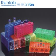 Racks de tubo de 4 vias para Micro Tubes e tubos de 50ml e 15ml