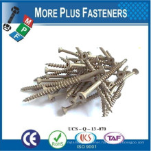 Made in Taiwan Square Recess Brown Magniguard Coated Decking Screw Stainless Steel Decking Screw