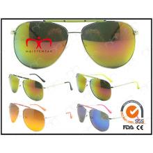 Moda quente vendendo metal UV400 óculos de sol (ms30317)