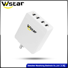 USB Charger with 4 USB Ports with Us Plug