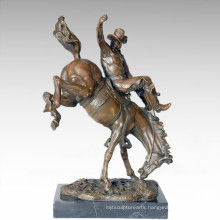 Soldiers Figure Statue Cowboy Bronze Sculpture TPE-274
