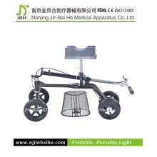 Deluxe Rollator aço joelho Walker para idosos