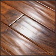 Handscraped suelo de madera maciza de acacia