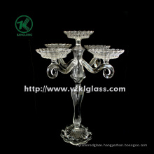 Glass Candle Holders for Decoration with Five Posts (10.5*26*33)