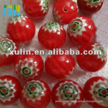 chevron trade beads 10mm red