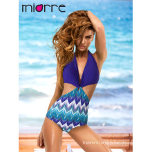 MIORRE OEM WOMEN ONE PIECE TRENDY ELEGANT PATTERNED SWIMWEAR SUIT