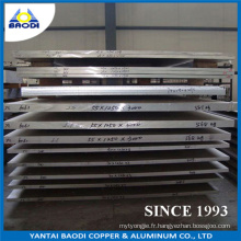 Plaque résistante à la corrosion en aluminium pour chantier naval