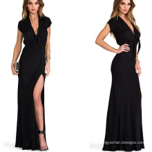 Hot Sale 2015 à manches courtes Maxi Summer Women Party Dress
