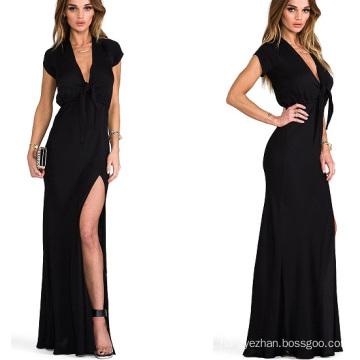 Hot Sale 2015 Short Sleeve Maxi Summer Women Party Dress