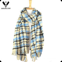 Good Quality Loop Yarn Checked Tartan Plaid Scarf