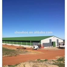 Stahlbau Schuppen Design niedrigen Kosten Stahl Geflügel Schuppen für Huhn und Schwein