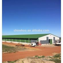 Construction d'un hangar de poulet pour la ferme de volaille en acier