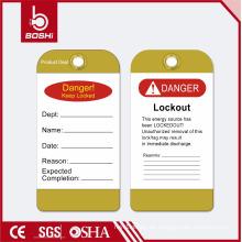 BOSHI PVC Tag Lockout Label BD-P13 für Abteilungsidentifikation