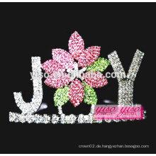 Schmuck und Zubehör benutzerdefinierte farbige Blume Festzug Kristall Tiara