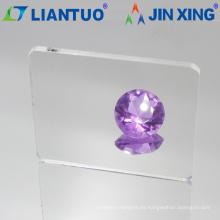 Hoja de acrílico transparente transparente de 2 mm