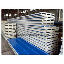 Espuma ignífugo Material de construcción PU Sanwich Panel Precio