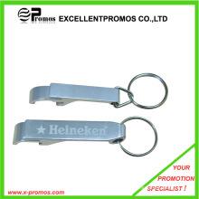 Promoção personalizado logotipo liga de alumínio abridor de garrafas chaveiro (EP-B7093)
