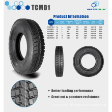 INTERTRAC Truck Tyre 325/95R24 TCMD1 with tube, Mix road condition Drive position,prompt delivery with warranty promise