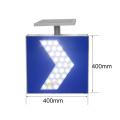 letrero led solar sincronizado intermitente blanco