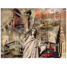 Estátua de liberdade esticada de NOVA YORK Impressão De Canvas Envolvida