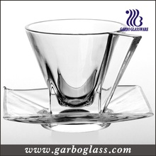 New Style Glass Cup & Saucer Set (TZ-GB09D0906)