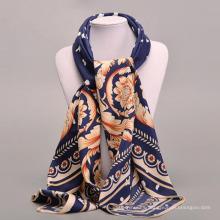 Las mujeres de la bufanda cuadrada suave de la manera occidental de Europa diseñan la corbata de lujo