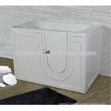 Traversée en acrylique dans une baignoire pour les personnes handicapées et les personnes âgées