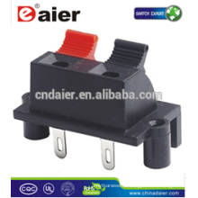Daier WP2-6B 2P Red& Black Clip Speaker Terminal Spring Clip Connector