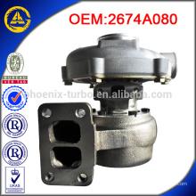 Vente chaude TO4E35 2674A080 turbo pour perkins
