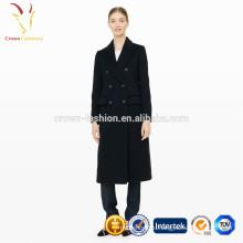 Женские зимние длинные пальто женщин пальто 100% шерсть