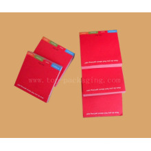 Convenient Pure Red Memo Pad/Sticky Pad/Notepad (NY-0005)