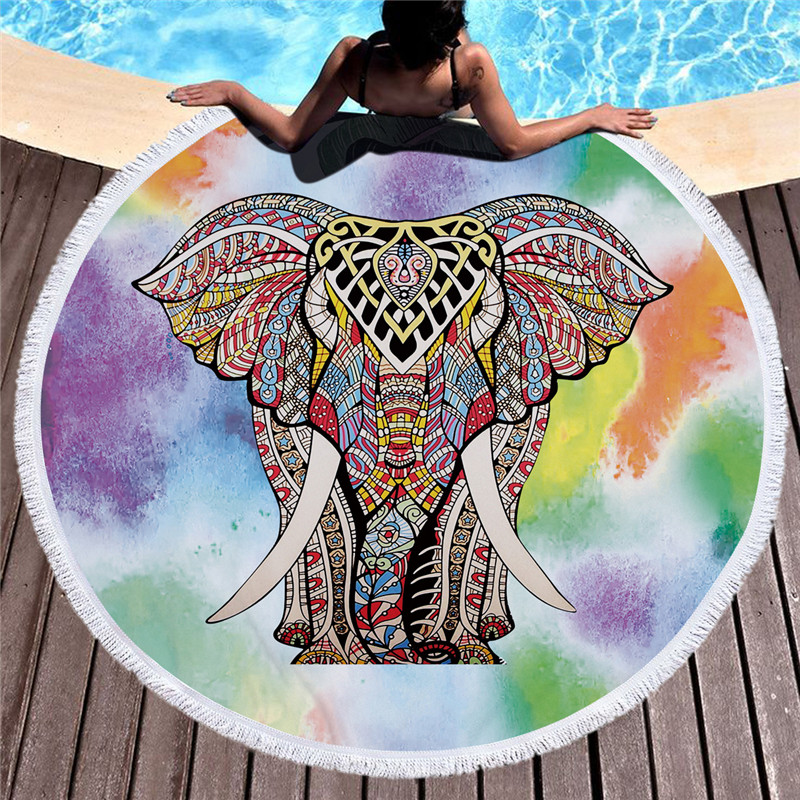 Unique Round Animal Beach Towel