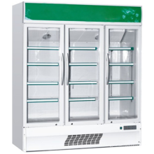 Superior quality upright transparent door fridge for beverage display