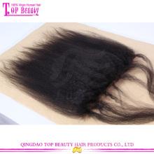 Hot venda kinky reta de seda base laço frontal fechamento laço frontal barato por atacado encerramento 7a série cabelo brasileiro top encerramento