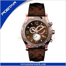 2016 Novo relógio de aço inoxidável do cronógrafo do esporte da entrada Psd-2379