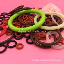 Caucho de colores FDA o anillos de silicona O-ring NBR Sellado de anillos O Sellos para fiambrera fresca
