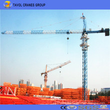 China 5t Tower Crane 56m Jib with 1.0t Tip Load Qtz63-5610 Tower Crane