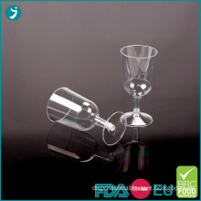 Disposable Plastic Wine Glasses 6oz Clear PS
