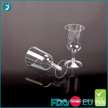 Disposable Plastic Wine Glasses 6oz Clear PS