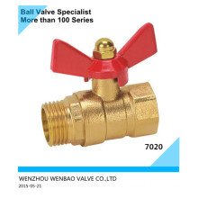 Brass Ball Valve M/F with Butterfly Handle Dn15